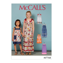 McCall's Children's/Girls' Dresses M7768 - Sewing Pattern