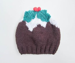 Christmas Pudding Baby Beanie Hat