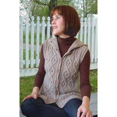 Sleeveless Cable Hoodie to Knit