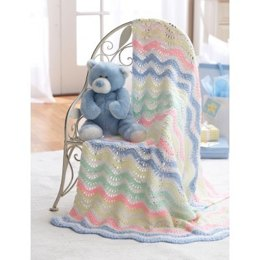 Ripple Blanket in Bernat Baby Coordinates Solids