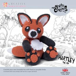 Creative World of Crafts Knitty Critters Hartley The Fox - 28cm
