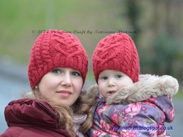 Valentine Cable Hat