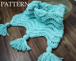 Calming Waves Tassel Throw