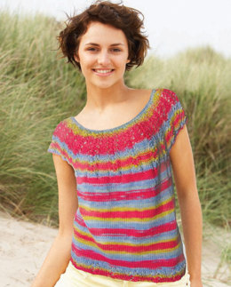 Lucia Tee in Knit One Crochet Too Ty-Dy Cotton - 1744