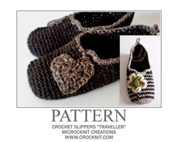 Crochet Slippers TRAVELLER
