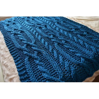Snuggly Cable Blanket
