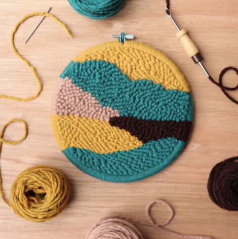 The Modern CrafterBeginner Punch Needle Hoop Kit - Mountain - 8in