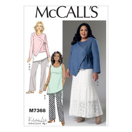 McCall's Misses'/Women's Asymmetrical Jacket, Tunic, Gored Skirt and Pants M7368 - Sewing Pattern