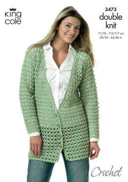 Crocheted Jackets in King Cole DK - 3473