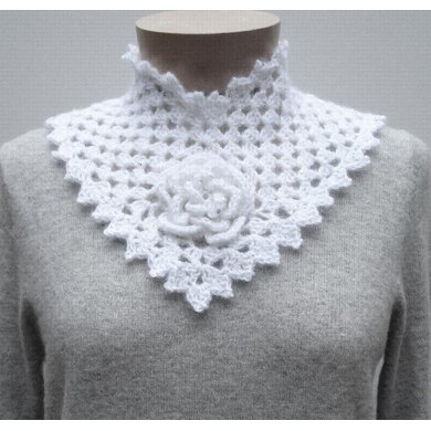 Flower Square Collar - PA-124e (crochet)