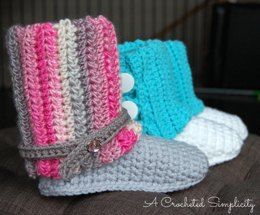 Kid's Slouchy Slipper Boots