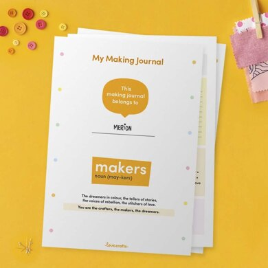 My Making Journal - Free Printable