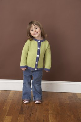 Seed Stitch Cardigan in Lion Brand Cotton-Ease - 70204A