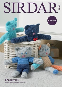 Crochet Teds in Sirdar Snuggly DK - 5200 - Downloadable PDF