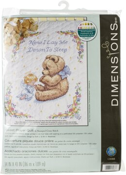 Dimensions Sweet Prayer Stamped Cross Stitch Quilt Top