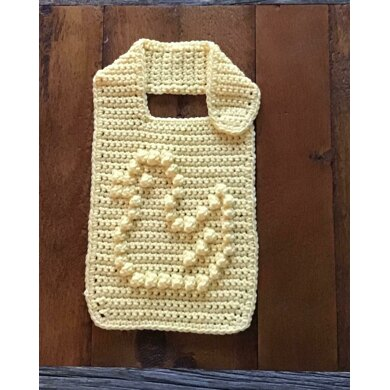 Baby Bib With Bobble Stitch Little Duck