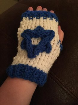 Star of David Series--Fingerless Gloves