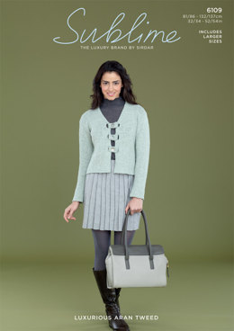 Dill Jacket in Sublime Luxurious Aran Tweed - 6109 - Downloadable PDF
