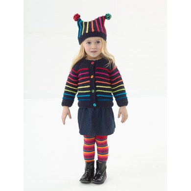 Colorful Cardigan And Hat in Lion Brand Vanna's Choice