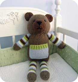 Knit Pocket Bear Pattern