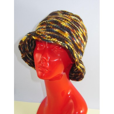 Chunky Self Striping Brim Hat
