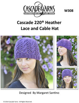 Heathers Cable and Lace Hat in Cascade 220 - W308