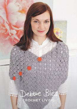 Pretty Poncho in Debbie Bliss Cashmerino Aran - DBS061 - Downloadable PDF