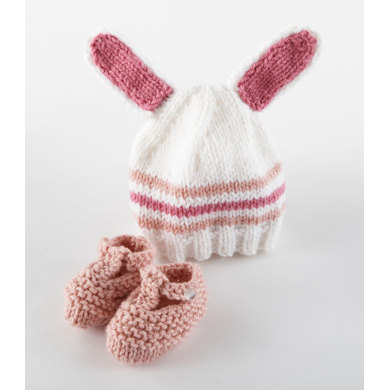 Bunny Hat and Booties in Lion Brand Vanna's Choice and Vanna's Choice Baby - L10738