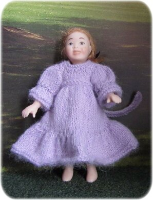 1:12th scale Toddlers bridesmaid dresses