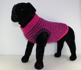 Chunky Stripe Dog Coat