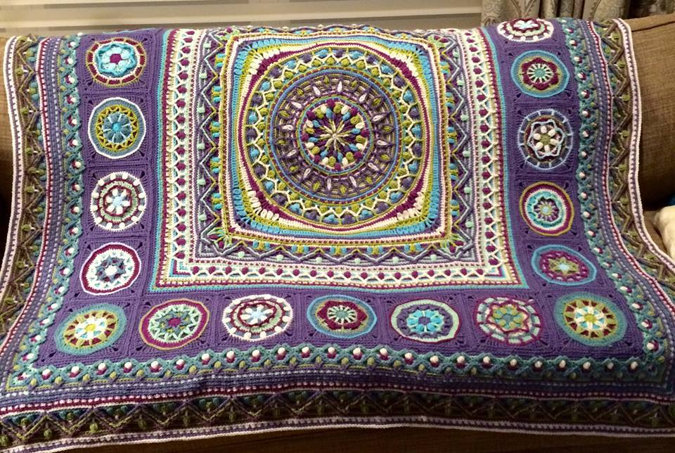 Persian Dandelion Mandala Blanket Crochet Project By