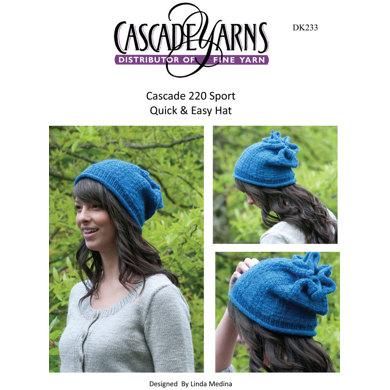 Quick and Easy Hat in Cascade 220 Sport - DK233