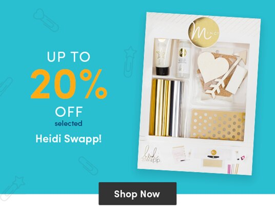 Up to 20 percent off selected Heidi Swapp supplies!
