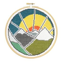 Hawthorn Handmade Mountain Adventure Cross Stitch Kit