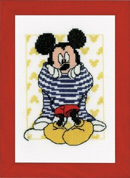 Vervaco Mickey Getting Dressed Cross Stitch Kit - PN-0167520