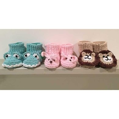 Crochet Animal Booties - Lion, Monster and Bunny Rabbit