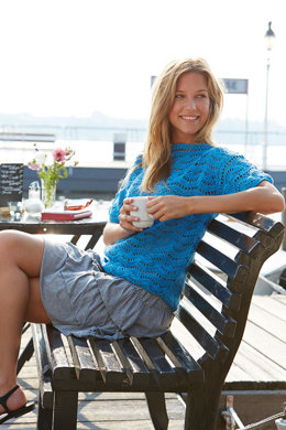 Crochet Pullover in Wave Pattern in Schachenmayr Catania - S9013 - Downloadable PDF