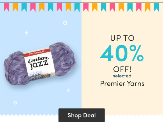 Up to 40 percent off selected Premier Yarns