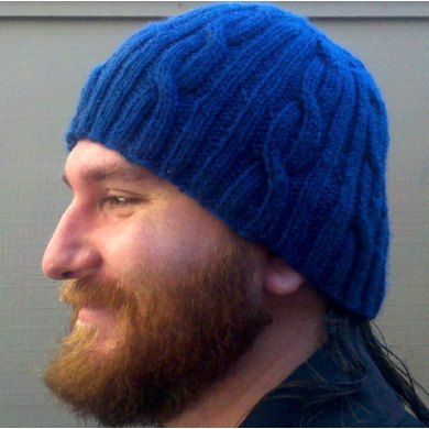 Easy Open Cabled Worsted Hat