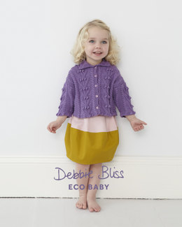 Bobble Cable Cardigan in Debbie Bliss Eco Baby