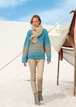 Ladies' Jumper and Scarf in Bergere de France Lima - 42823