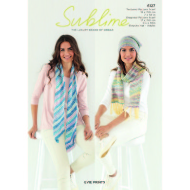 Scarf and Hat in Sublime Evie Prints - 6127 - Downloadable PDF