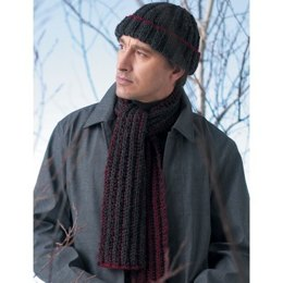 Easy Rib Hat & Scarf in Patons Shetland Chunky
