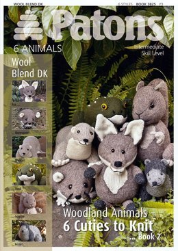 Woodland Animals 2 Book by Patons - 3825