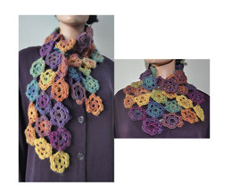 Crocheted Flower Scarf or Cowl in Crystal Palace Yarns Mochi Plus