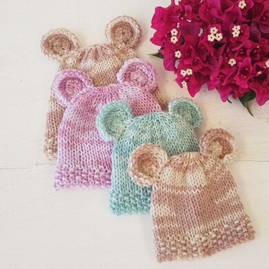 Double Knit Baby Bear Beanie