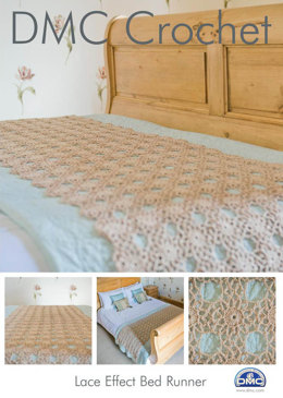 Lace Effect Bed Runner in DMC Petra Crochet Cotton Perle No. 3 - 14940L/2