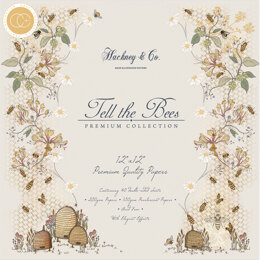 """Craft Consortium Double-Sided Paper Pad 12""""X12"""" 40/Pkg - Tell The Bees"""