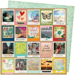 """American Crafts Vicki Boutin Let's Wander Double-Sided Cardstock 12""""X12"""" 25/Pkg - Picture Perfect"""