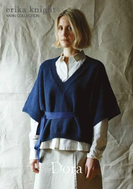 Dora Sweater in Erika Knight British Blue 100